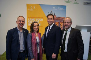 Right to Left: Robert Harrison, Sabine Pittrof, Minister Cibo, Volkmar Klein MdB