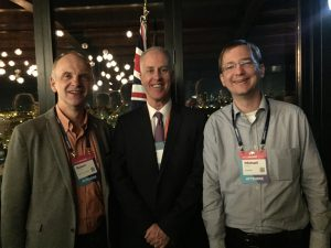 Ambassador Rayner with Robert Harrison and Michael Bingel